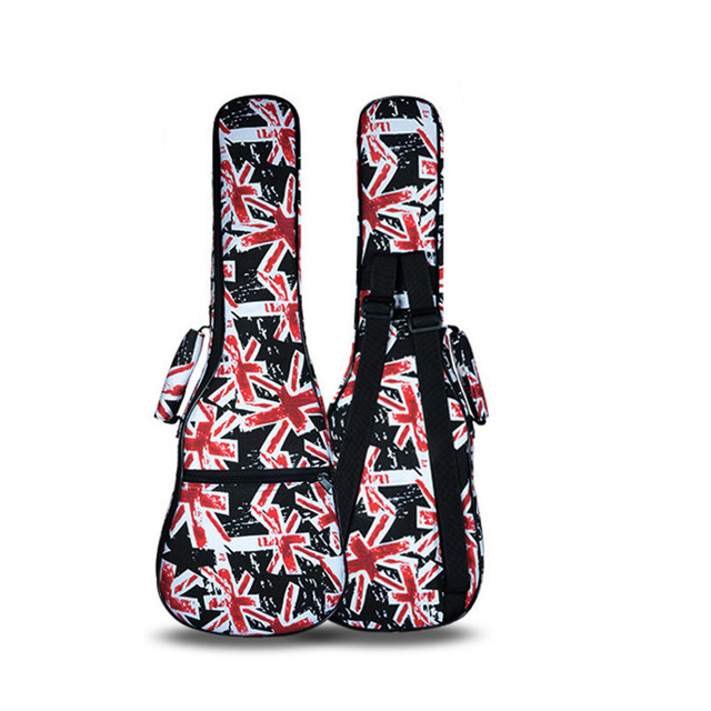 wholesale retail kid cute 21 26 ukulele bag soprano case lanikai guitar padded backpack colorful pattern shoulder straps pocket