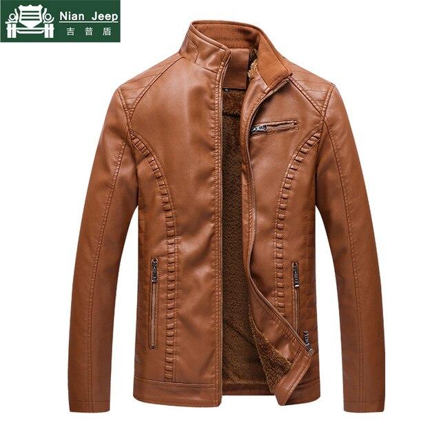 Plus Size 5XL 6XL Thicken Leather Jacket Men Casual Brand Winter Warm jaqueta de couro 2018 High Quality jaqueta masculina couro
