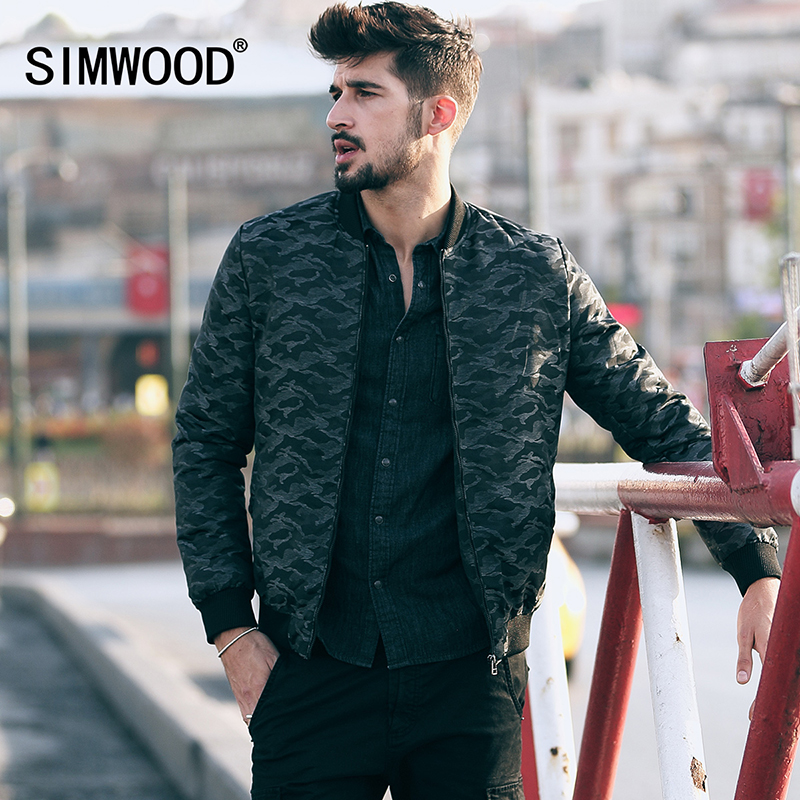 ФОТО SIMWOOD 2016 New Autumn Winter Coats Men Fashion military style bomber  Jacket  Camouflage  Parkas Casual Brand Clothing MF9602