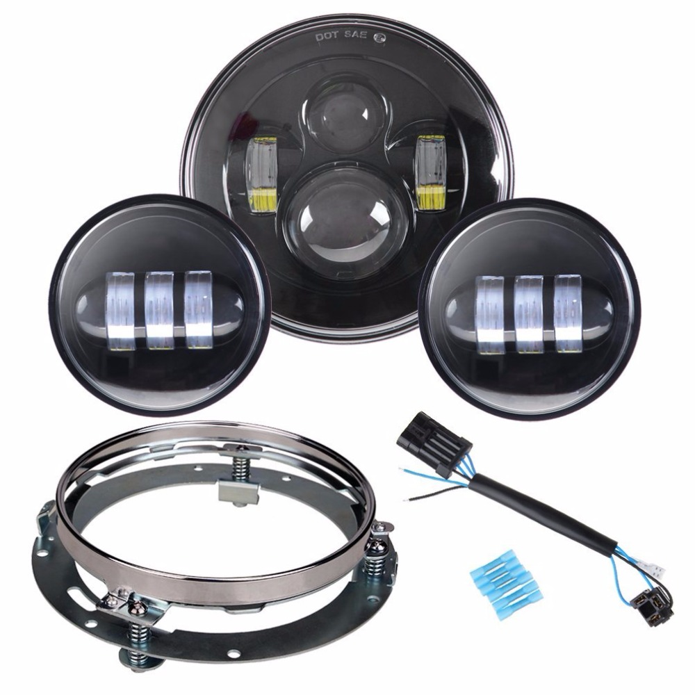 60 W 7 pouces LED Phare 4 5 Chrome Passant Auxiliaire Spot Brouillard font b Lampe