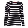 Fashion Women Striped Cotton Long Sleeve T-shirt Casual Loose Spring Autunm Loose Tops Shirts Clothes