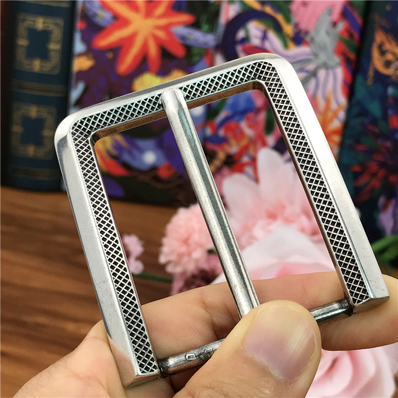 Silver Metal Belt Buckles For Men Pin Belt Buckle Leathercraft Diy Accessories Men Buckle For Belt Clip  AK0042S