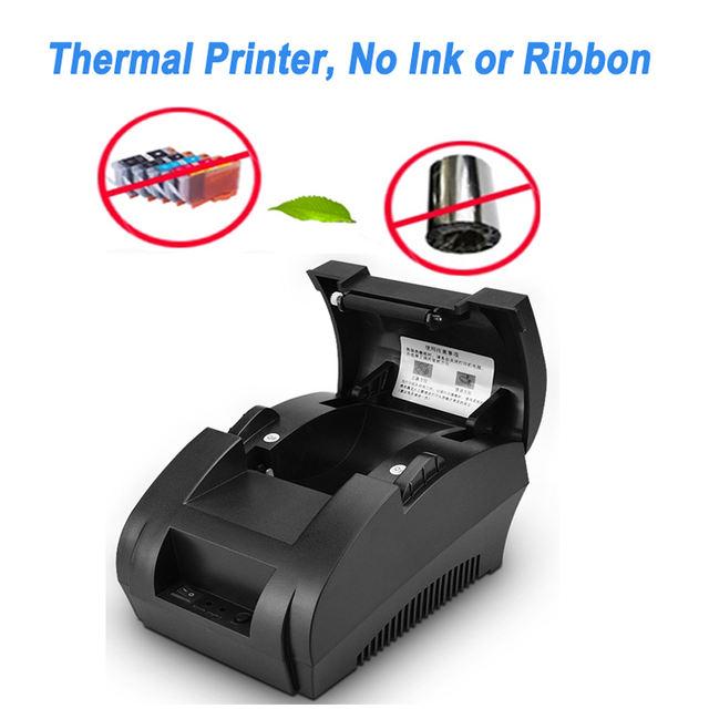 58mm POS Thermal Receipt Printer Bluetooth USB Port