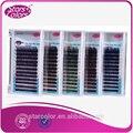 5 bandejas de Cores Misturadas Seda cílios Cílios Falsos Colorido Natural falso cílios 2 tom Mix Tamanho espessura 7mm a 15mm compõem