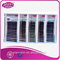 5 trays Mixed Colors Silk eyelash Colorful False Eyelash Natural false eyelashes 2 tone Mix Size thickness 7mm to 15mm make up