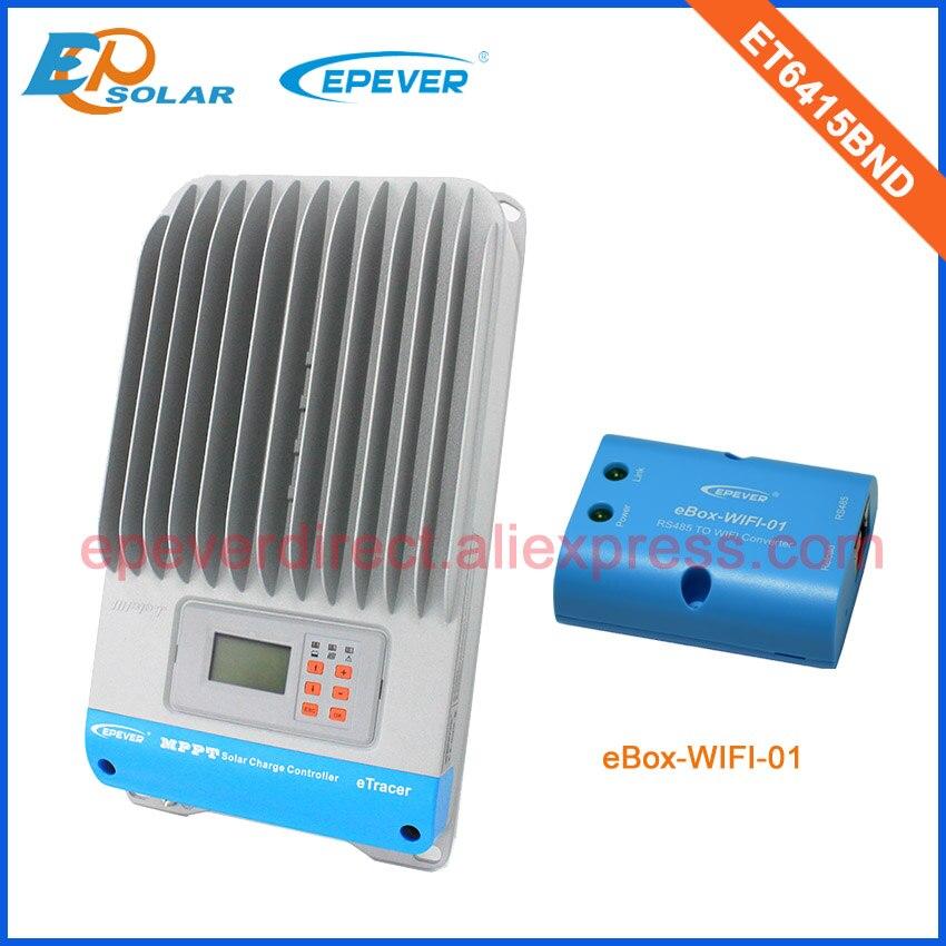 60A 12 V/24 V/36 V/48 V chargeur de batterie de travail automatique régulateur solaire ET6415BND 60 ampères wifi eBOX Android téléphone APP MPPT panneaux solaires