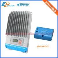 60A 12V/24V/36V/48V auto work battery charger solar regulator ET6415BND 60amps wifi eBOX Android Phone APP MPPT Solar Panels