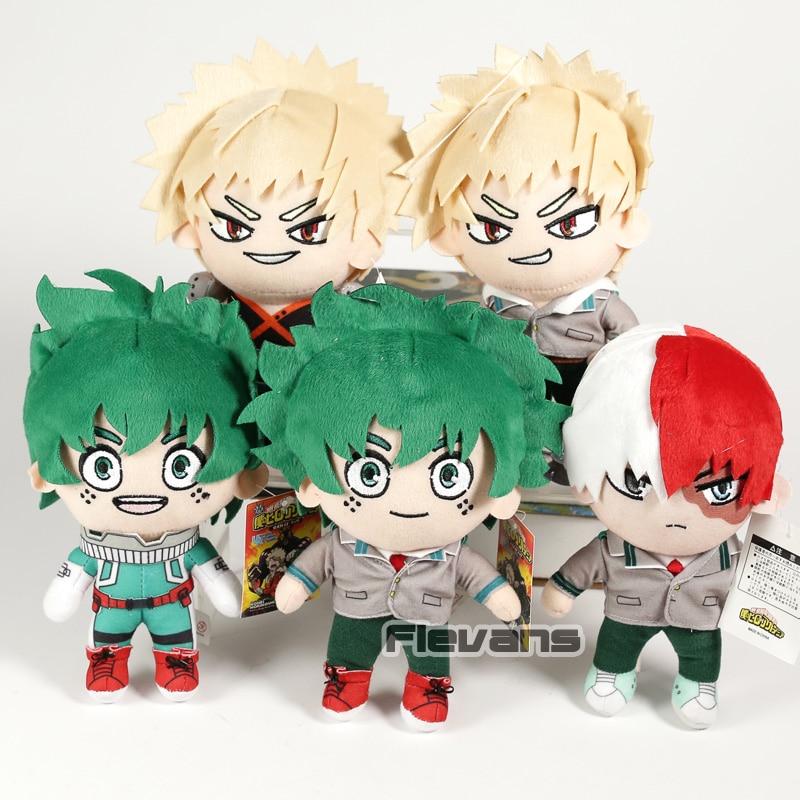 My Hero Academia Midoriya Izuku Todoroki Shoto Bakugou Katsuki Plush Doll Toy