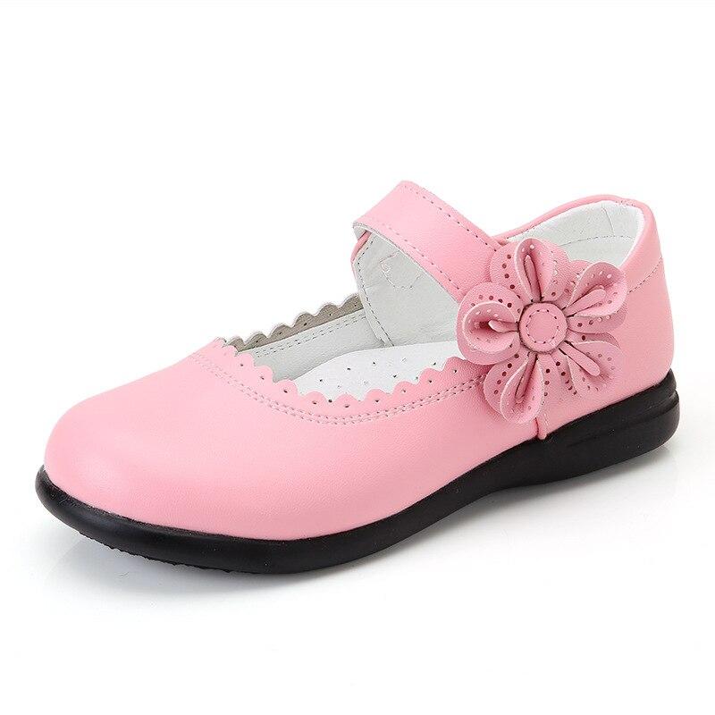 Chaussures en cuir pour filles | Motif floral, pour enfants de 3 4 5 6 7 8 9 10 11 12 13 14 ans, nouvelle collection