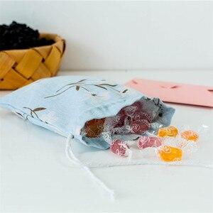 Image 4 - Polyester coton panier de rangement voyage lavage poche chaussure tissu stockage panier sacs Portable organisateur pratique voyage stockage