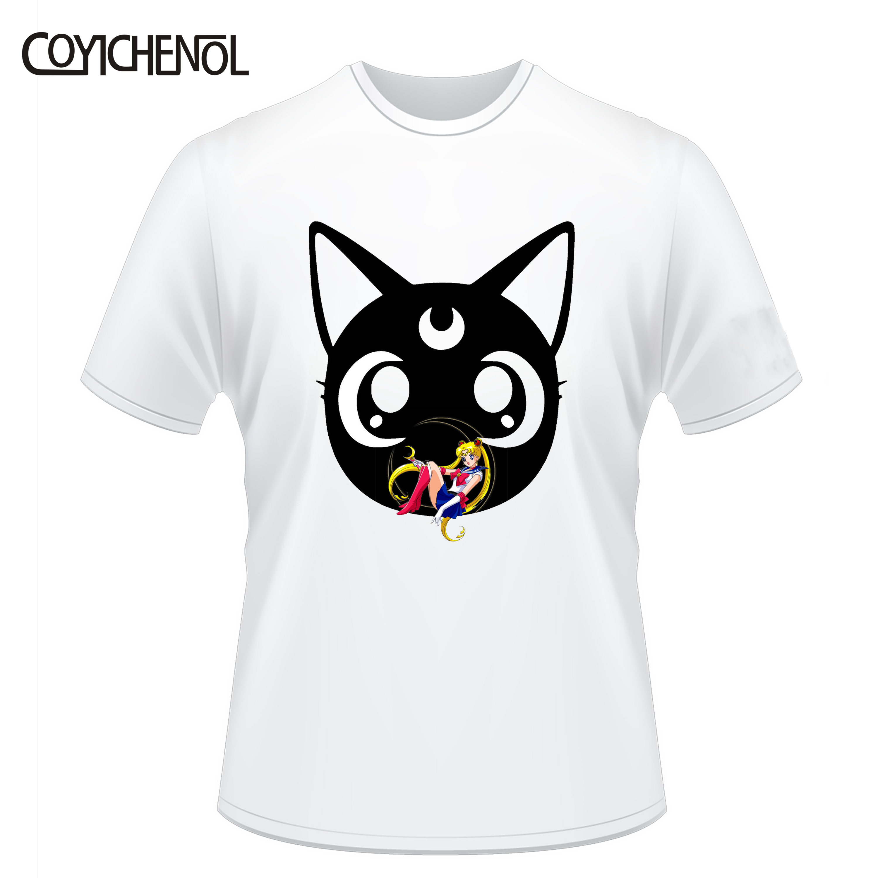 Image 4 - Fashion customize sailor moon tshirt women 6XL design funny tshirt oversized solid color modal top large size kawaii couple tee-in T-Shirts from Women's Clothing