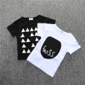 BC134 1 pcs cotton Short Sleeve T Shirts For Girls Black White T-shirts baby tops boys t shirts children's clothing retail