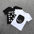 BC134 1 pcs cotton Short Sleeve T Shirts For Girls Black White T-shirts baby tops boys t shirts children's clothing retail
