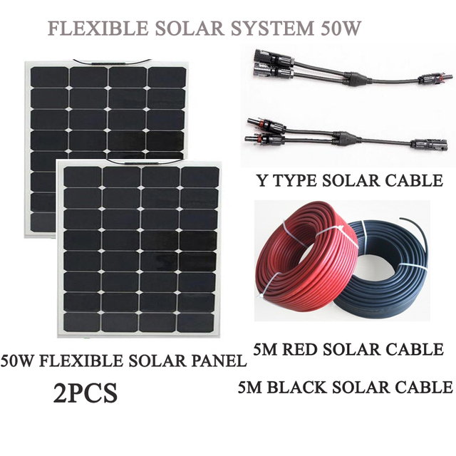Aliexpress Com Buy 100w Solar Panel System 2pcs Mono