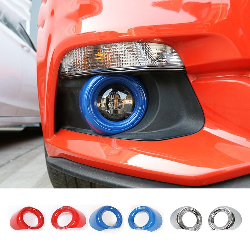 SHINEKA Light-Cover Car-Front Ford-Mustang Decoration Trim-Ring-Sticker Fog-Lamp-Frame