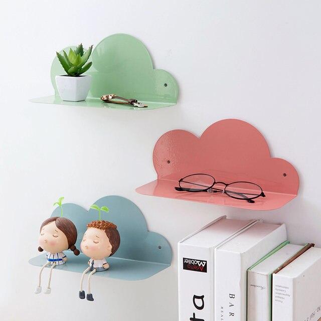 Fer Nuage Design Décoratif étagère Murale Suspendu Rack De Stockage