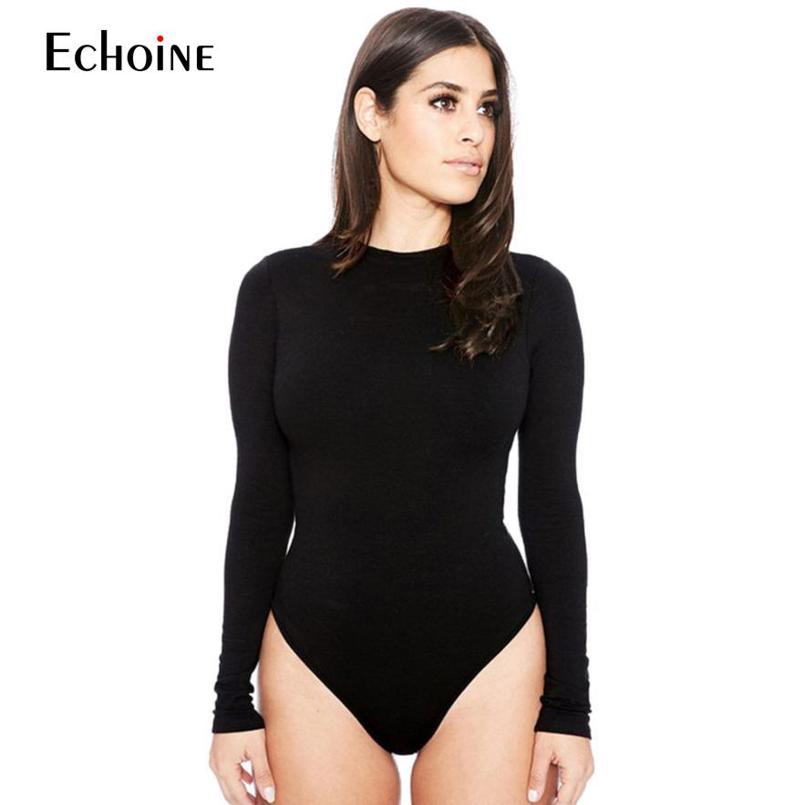 2019 Spring New Womens casual Sexy Long Sleeve Slim Pants Siamese Bottoming Bodysuit Jumpsuit   Romper   suit Jumper body suit