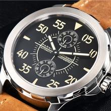 2017 автоматические часы мужские Parnis 43 мм механические наручные часы запас мощности Автоматическая Дата