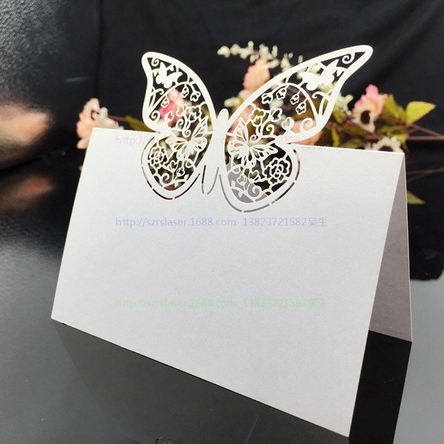 Wedding Supplies 100pcs Pack Pierced Laser Cut Erfly Party Table Name Place Cards
