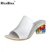 Femmes sandales d'été pantoufles chaussures femmes talons hauts sandales mode strass chaussures nouvelle couleur arrivée chaussures taille 35-41 WD0164