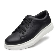 Dropshipping New Stylish Men Students Fashion Leather Casual Trendy Lace Up Hight Quality Breathable Board Leisure Shoes DB093