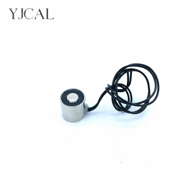 Suction-cup Dc 12V 24V Cylindrical Holding Electric Sucker Electromagnet Magnet YJ-16/16 Lifting 1.5KG Gallium Metal China