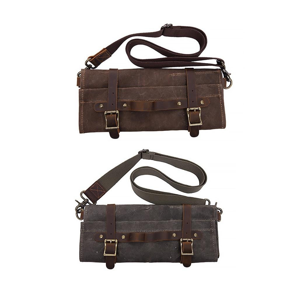 Vintage Canvas Bag Tool Bag Multi-Functional Storage Portable Folding Single Shoulder Bag k 911 outdoor canvas single shoulder bag brown