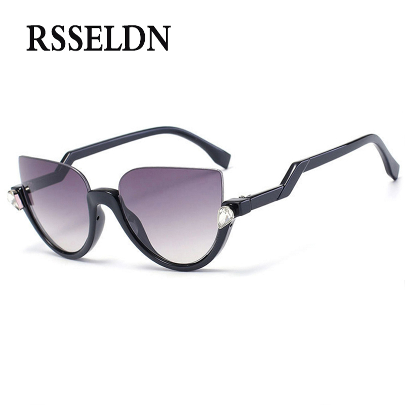 RSSELDN New Vintage Cat eye Sunglasses Women Brand Designer Woman Sun Glasses UV400 luxury Woman sunglasses oculos de sol