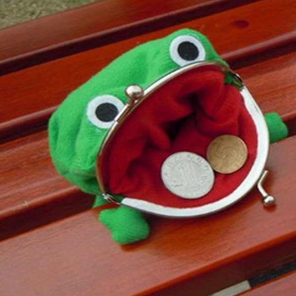 Naruto Green Frog Coin Bag Cute Purse Cosplay Props Wallet Plush Toy Funny Gift