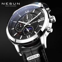 NESUN Automatic Watch New Fashion 2018 Date Week Moon Phase