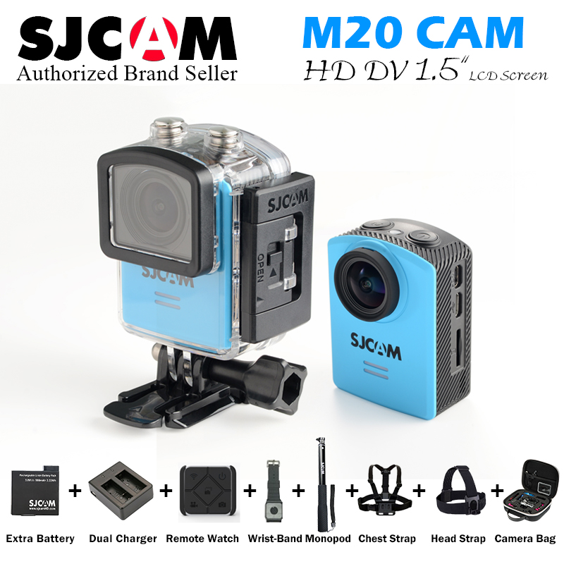 SJCAM M20 Wifi Gyro Sport Action Camera HD 2160P 16MP 24fps 2K 30fps watch self timer lever remote control vs go pro 5 camera campark wifi sport action camera 2k hd 30fps hd 1 5 tft lcd 1080p 60 fps 16mp action cam digital camcorder hdmi output