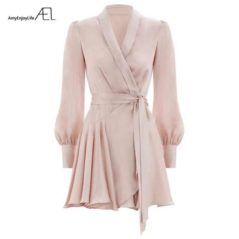 AEL été femmes Satin robes Sexy mode Femme vêtements 2018 Vestido Curto - 4