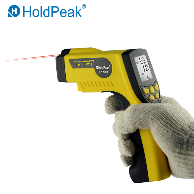 Outdoor Infrared Digital Thermometer HoldPeak HP 1300 Non Contact Laser LCD Display Temperature Gun 16:1 Laser|infrared thermometer|digital thermometer|thermometer digital thermometer - title=