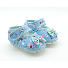 2017 Summer Baby Girl Cloth Soft Sole Booties First Walkers Round Dot Prewalker Mary Jane Shoes With Bowknot Shoes(China)