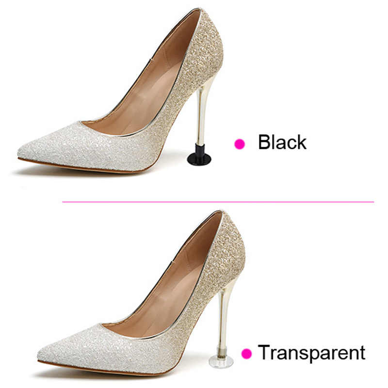 d1a524c61fb 1 Pair of Shoes High Heel Stoppers Cap Protectores Heel-stud Protectors  Parties With Dances Boots Shoes Protector Transparent