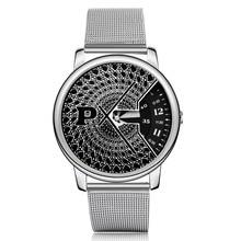 Malla de acero paidu tocadiscos relojes de moda popular reloj del deporte del reloj de los hombres de plata de lujo de relojes de cuarzo horas reloj de hombre