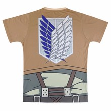 Unisex Anime Attack on Titan T Shirt Cosplay