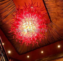 Free Shipping Festival Decoration Murano Glass Modern LED Chandelier  цена и фото