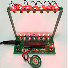 Diyキットc51 mcuレーザーハープキットストリングdiyキーボードキット電子部品7弦電子diyキット技術ピアノオルゴール