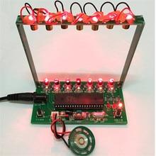 Kit de bricolage C51 MCU Kit de harpe Laser chaîne bricolage Kit de clavier pièces électroniques 7 cordes Kit de bricolage électronique technologie Piano boîte à musique