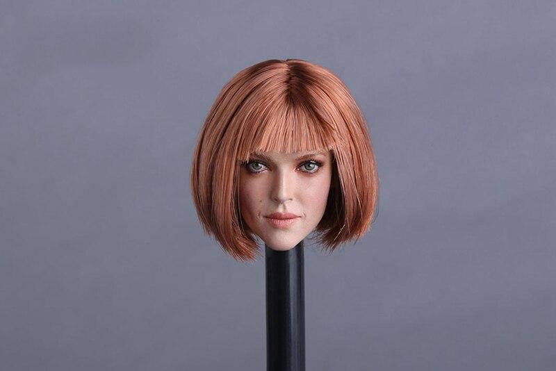 1/6 GC009 D Аманда Сейфрид модель головы с Красный короткие волосы Fit 12 женской фигуры Средства ухода за кожей куклы