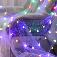 10 m 100 leds globo luzes da corda guirlanda de natal lumineuse led luzes de fadas decoração festão para natal navidad natale feriado