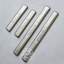 Высокое качество нержавеющая сталь Накладка/дверной порог для Volkswagen POLO автомобильный Стайлинг 2011