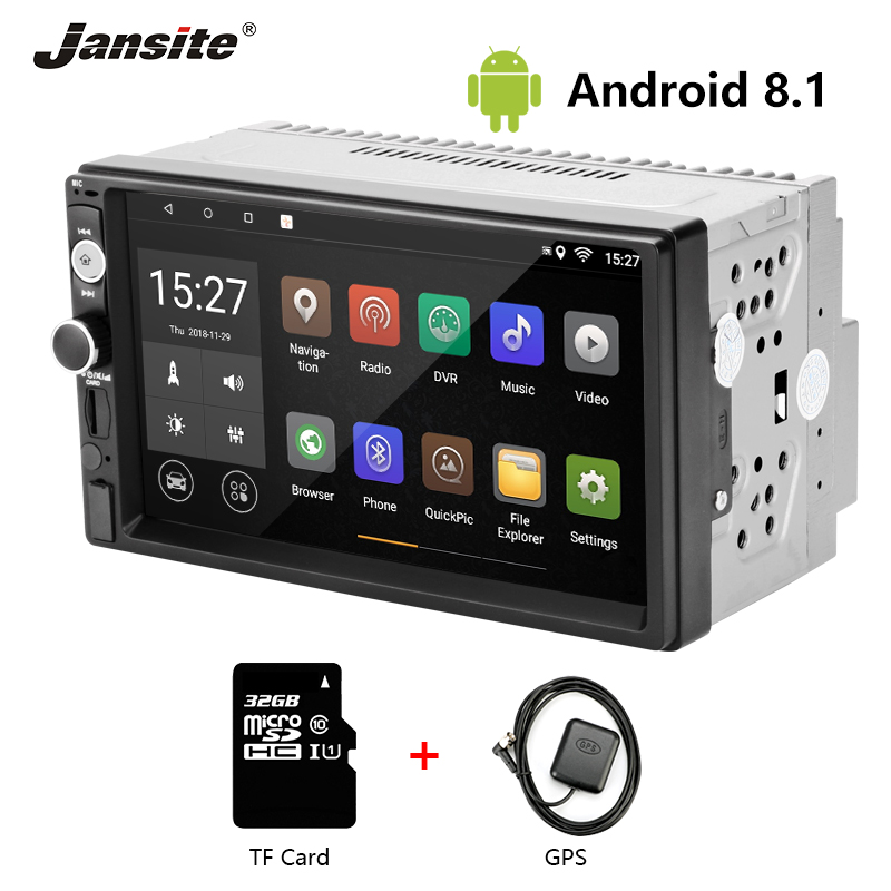 Jansite 7 2 din Car Radio Android 8 1 Touch Screen Player GPS Navigation Multimedia radio