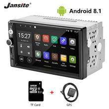 Jansite 7 2 din Car Radio Android 8.1 Touch Screen Player GPS Navigation Multimedia radio Car Stereo with SD card Backup camera 2 din android 6 0 auto car radio with gps navigation double din multimedia player 7 inch 1024 600 free camera support dab 7021g