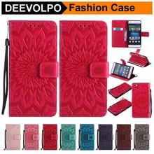 DEEVOLPO Sunflower Flip Phone Case For Huawei Nova P8 Lite 2017 P9 P7 P10 Mate 7 8 9 PU Leather Wallet Card Snot DP128