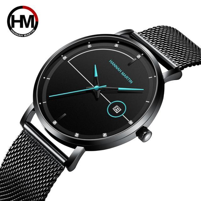 Men Watch Date Top Brand Luxury Japan Movement Quartz Casual Sport Stainless Steel Ultra Thin Waterproof Watch Relogio Masculino
