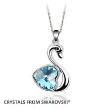 2017 Mother's Day gift! Quality Crystal Classic Swan pendant necklace for Christmas and New Year