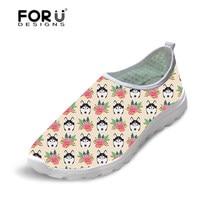 4fce53eab5d Летняя женская обувь на плоской подошве с милым цветочным узором хаски