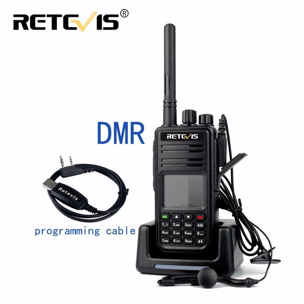 bilder für DMR Radio Retevis RT3 Digitale Walkie Talkie VHF (UHF) 5 Watt 1000CH Verschlüsselung Scan GPS Amateurfunk Hf-Transceiver Zweiweg cb Radio RT3